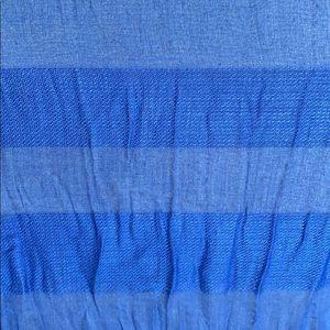 INC International Concepts Accessories - INC Sheer Stripes Wrap Scarf Blue